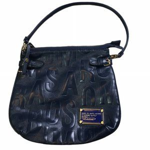 MARC JACOBS Navy Classic Monogram Shoulder Bag